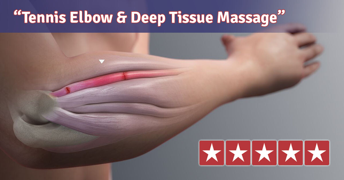tennis elbow and deep tissue massage
